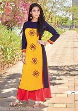 XXL Attractive Designer Heavy Rayon Cotton Embroidered Kurti | Kurta | Tunic