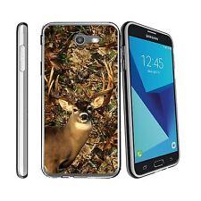 For Samsung Galaxy J7 V | J7 (2017) | Perx | Sky Pro Clear TPU Case Deer Hunting
