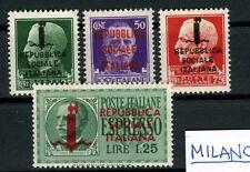 RSI 1944 - Serie di Milano completa  MNH**  freschissimi