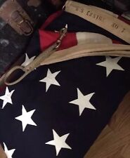 """Vintage 48 Star WWII Era """"US Ensign No 7"""" US Navy American Flag. 5x9.5 Ft. Rare!"""