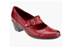 NEW Clarks BENDABLES Leather Slip-on Mary Janes INGALLS SIENNE BURGUNDY 8 EU 39