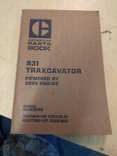 Caterpillar Parts Book 931 Traxcavator