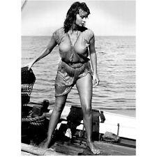 Sophia Loren Soaking Wet on Boat Out to Sea 8 x 10 Inch Photo