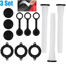 3 Sets Replacement Gas Fuel Can Spouts Cap Parts Kit Blitz Rubbermaid Rubbermade