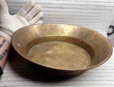 Antique primitive old bronze pot basin