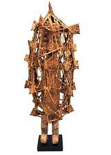 Art Africain - Ancien Fétiche Lobi Sur Socle - Bois Fers Coton - 67,5 Cms ++++++