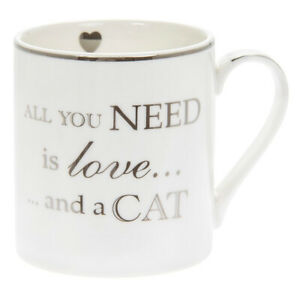 All You Need Is Love And A Cat Fine China Mug - Boxed Gift
