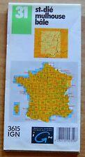 Carte IGN 1-100 000e n°31 St Dié-Mulhouse-Bâle, 1993