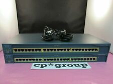 LOT OF 2 Cisco Catalyst 2950 WS-C2950-24 24-Port 10/100 Managed Network Switch