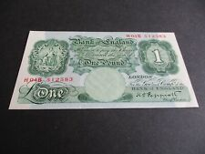 More details for b260 - last series bank of england £1 pound note - k.o.peppiatt - h04b 512583