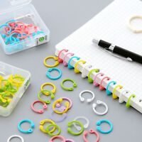1 Box Colored Easy Ring Paper Book Loose Leaf Binder Multi-function Circle--