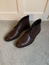 Kiomi Dark Brown Leather Shoes, Men, Size EU 44 / UK 10, Used but Unworn