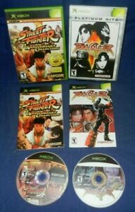 Xbox; Street Fighter Anniversary Collect, Soul Calibur II, w/Manuals,Discs VG-LN
