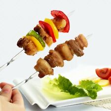 15pcs Reusable flat stainless steel barbecue skewers bbq Needle stick cooking