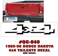 QG-855 1998-03 DODGE DURANGO 4x4 // LIFT GATE DECAL SOLD EACH LICENSED