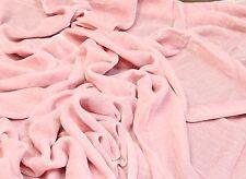 """Light Pink Plush Silk Velvet Upholstery Apparel Fabric - BTY - 44"""" / 45"""""""
