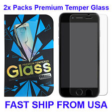 2x New Clear Premium Real Tempered Glass Film Screen Protector for iPhone 6 / 6S