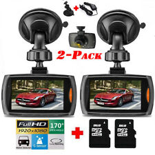 "2x 2.4"" 1080P HD Car DVR Vehicle Camera Video Recorder Dash Cam Night Vision"