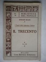 I secoli della letteratura italiana Il trecentoBoari Sonzogno biblioteca popolo