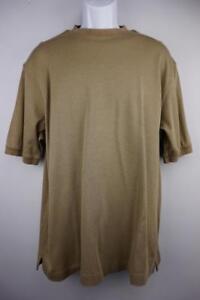 JOS.A.BANK  Cotton  Crewneck Pullover Shirt Short Sleeve  Olive Mens MEDIUM