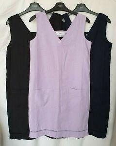 NEXT, Womens, Black Lilac or Blue Linen Blend Knee Length Shift Dress, Size 6-18