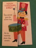 "Vintage American Greetings Christmas ""Dad"" Soldier Card"