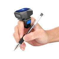 Wireless BT Finger Ring Barcode Scanner 2D Scanning Reader For Android Win8 Mini