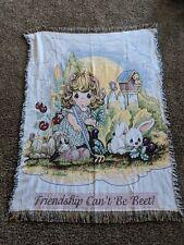 Precious Moments Vintage Blanket 1999 Garden Farmhouse Homestead