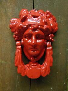 """Cast Iron DOOR KNOCKER Victorian Style vintage 7"""" x 5 1/2"""" Big"""