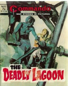THE DEADLY LAGOON,COMMANDO WAR STORIES IN PICTURES,NO.932,WAR COMIC,1975