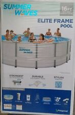 Summer Waves Elite 16' x 48 Above Ground Swimming Pool Set Brand New sealed