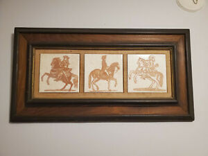 Vintage wall horse art from Italy