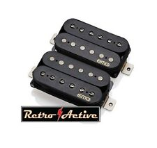EMG Fat 55 Retro Active Electric Guitar Humbucker Pickup Set - Black - 5968
