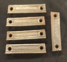 "5 Cast Iron Door Rim Lock Keeper Keep Catch Strike Plate 3 """