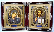 Ikone Gottesmutter Jesus Christus икона Богородица Казанская Иисус 36x22x2 cm