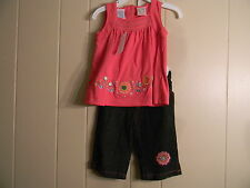 NEW GIRLS 18 MONTHS SHIRT AND PANTS JEANS OUTFIT BY BABY TOGS FREE SHIP