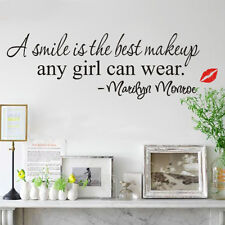 Removable Smile Art Marilyn Monroe Quote DIY Vinyl Wall Sticker Home Decor Hot!