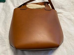 Zara Shoulder Bag Vintage Unused Tan Oversized