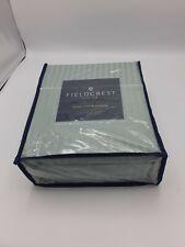 Fieldcrest  Satin Stitch Damask Sheet Full Set 500 Thread count Smoke Green