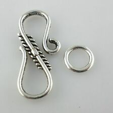 12pcs Tibetan Silver S-Hook Clasps Interface Toggle Jewelry Bracelet Connectors