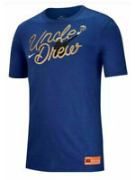 Nike Mens Uncle Drew Kyrie Athletic Cut Graphic Cotton Shirt Blue New