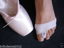 Pair of ballet dance pointe shoe toe protection gel mittens sleeves socks - New