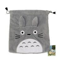 Grau Tasche mit Kordel Plüsch Kurzarm von / aus Hand Totoro Sammlerstück ape