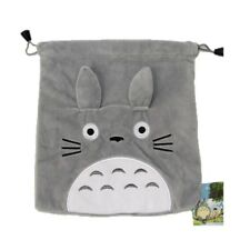 Drawstring Bag Short Plush Handbag Totoro Collectable Storage Bag Anime 21X19CM