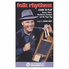 FOLK RHYTHMS new DVD: Play bones spoons washboard hambone paper bag David Holt