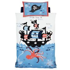 CATHERINE LANSFIELD PIRATE SHIP KIDS BOYS SINGLE DUVET QUILT COVER BEDDING SET
