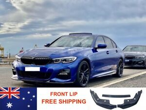BMW 3 Series G20 Front Lip Splitter Gloss Black AUS STOCK