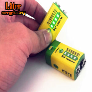 Promotion!! 6F22 Micro USB 9V 1200mAh rechargeable lithium battery W/Cable&OTG