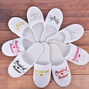 1Pair Bride Wedding Decoration Bridesmaid Party Slippers Ladies Party Suppl Td