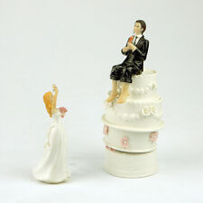 Romantic Fishing Resin bride and groom Figurine wedding cake topper party decors